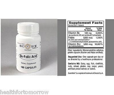 Bio Tech B6 Folic Acid 100 Caps