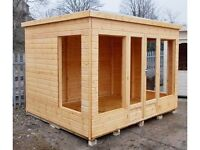 10ft x 8ft 19mm Log Exterior Iona Summer House