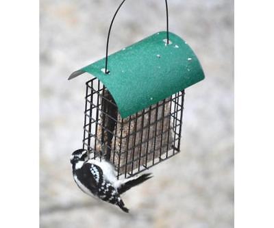 Songbird Essentials Deluxe Double Suet Cage with Green Roof Bird Feeder 106