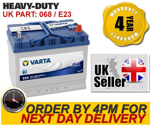 Varta E23 Blue Dynamic HEAVY DUTY 068 Car Battery 70Ah 630A - 4 Year Warranty