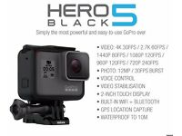 GoPro Hero 5 Camera - Latest model - Brand new - 8pcs left !