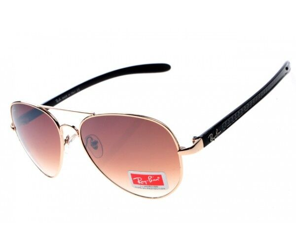 RAY-BAN AVIATOR CARBON FIBRE RB8307 BROWN ROSE GOLD SUNGLASSES