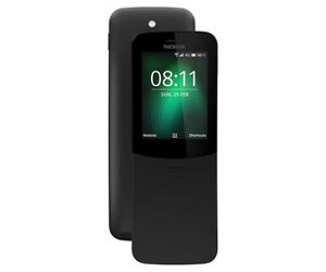 Brand new Sealed Box unlocked Nokia 8110 4G Dual SIM Black