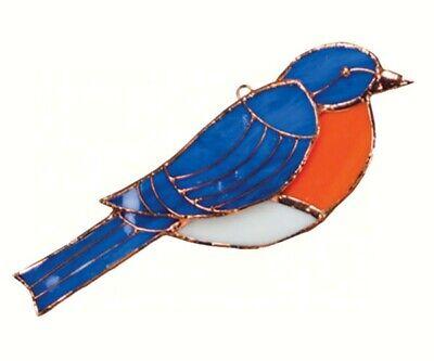 Stained Glass  -  Bluebird Sun Catcher  - GE172 Bluebird Stained Glass Suncatcher