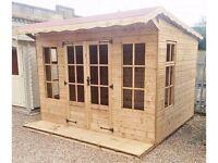 10ft x 8ft 19mm Log Exterior Laura Summer House