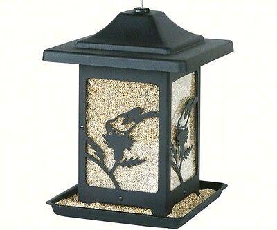 Bird Feeder Bird on Thistle Black Made in USA Heavy Duty Rust Resistant HS4582