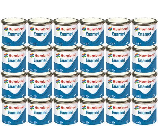 HUMBROL Enamel Paint Gloss Matt Satin Varnish 14ml Choose Colour Color Tinlet 2