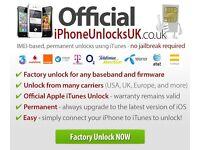 iPhone 7/7+ 6S/6s+/SE/6/6+/5s/5c/5/4s/4/3GS/3G/2G network unlock IMEI UNLOCK UNLOCKING