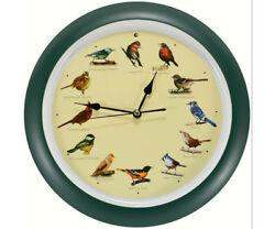 Audubon Singing Clock's - Original Singing Bird Clock 13 inch  -MFDLB023GR