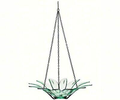 Couronne Co Clear Hanging 12 inch Daisy Birdbath and Bird Feeder COURM34920000