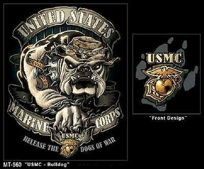 US BLACK INK  USMC BULLDOG Army Marine Corps USA TSHIRT BLACK SHIRT Gr. XL - Black Ink Bekleidung