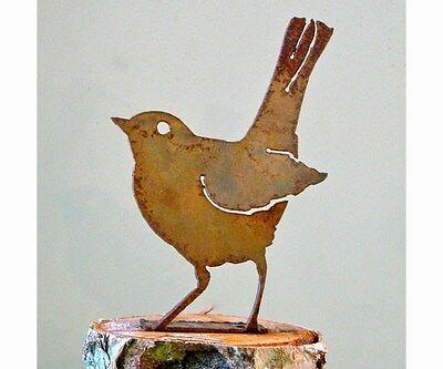 Ellegant Garden BABY ROBIN Bird Silhouette Rusty Metal Rustic Art Made in USA