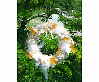 Songbird Essentials Wild Bird Nesting Material Wreath  Nest Builder Sewf91008