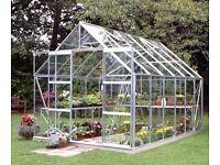12x8ft Glass Greenhouse