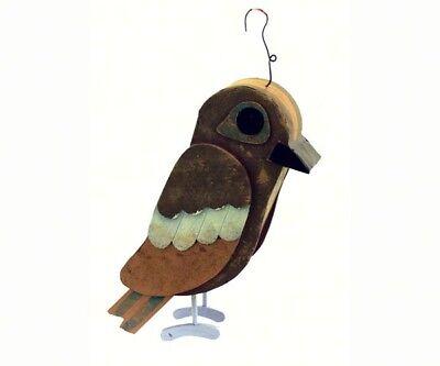 DECORATIVE  BIRD HOUSE - Owl Barn Birdhouse  -  SE919