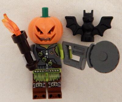 NEW LEGO JACK-O-LANTERN MINIFIG halloween pumpkin chainsaw masacre - Lego Halloween Pumpkin