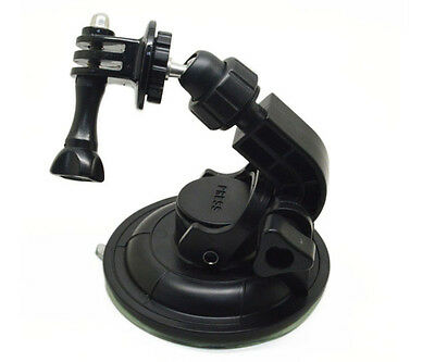 Suction Cup Car Window Mount holder + Tripod Adapter for GoPro  4 5 6 7 (Gopro Suction Cup Mount)