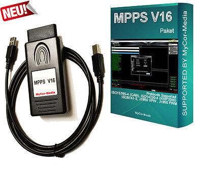 MPPS SMPS V16 OBD2 für BMW VW AUDI SEAT OPEL MB Auto ECU Tuning Tool ECU Flasher