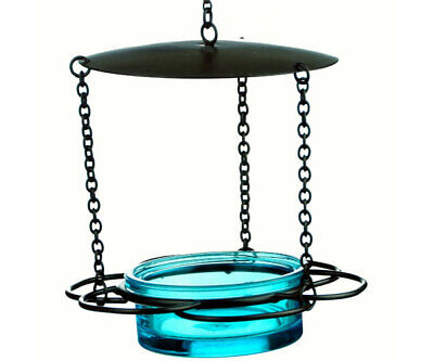 Couronne Co Blue Hanging Floral Bird Feeder COURM44620009