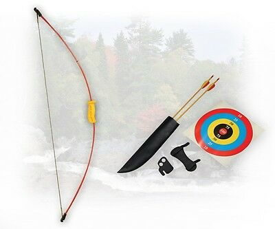 "PSE Youth Razorback Bow Set 62/""-30lbs Wood Archery Arrows Armguard Fingertab"
