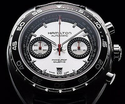 HAMILTON TIMELESS CLASSIC PAN EUROP MEN'S WATCH #H35756755 NEW IN BOX FREE SHIP