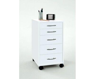 Bürocontainer Rollcontainer Schubladenkommode für Büro weiss Freddy von FMD