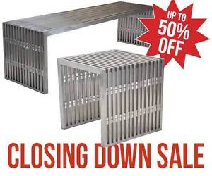 *Closing 29/7* Replica Amici Benches - Stainless Steel - 2 Sizes Osborne Park Stirling Area Preview