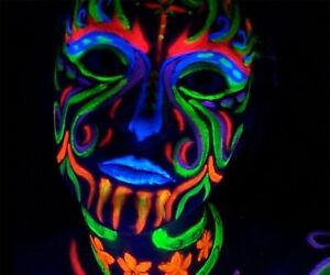 Blacklight Neon Makeup