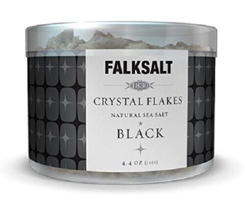 1 x FALKSALT BLACK NATURAL SEA SALT CRYSTAL FLAKES FROM CYPRUS 4.4oz / 125g NEW