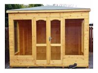 10ft x 8ft Summer House with a Pyramid Roof