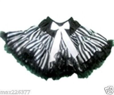 New Halloween pettiskirt Pirate stripes skirt costume tutu 10 - 12 years girl