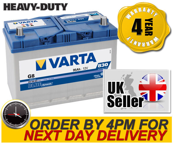 Varta G8 Heavy Duty High Power Car Battery - UK Part 250 / 250H - 4 Yr Warranty