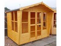 Lomond Summerhouse 8ft x 6ft 19mm Log Exterior