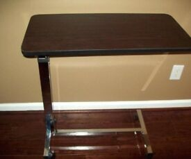 Over bed and Chair Table, Tilting & Adjustable