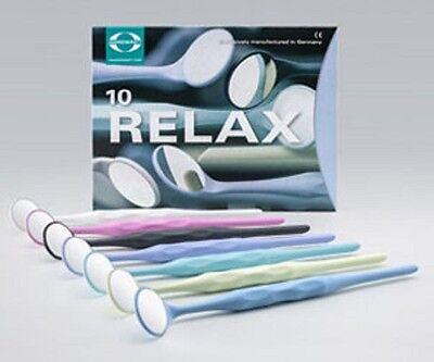 Hahnenkratt Dental Relax Fs Rhodium Mouth Mirrors Ref 7110-size 5 10 Assortment