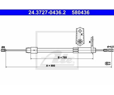ATE Brake Cable Mercedes Benz 24.3727-0436 ATE 24.3727-0436.2 for sale  Shipping to Ireland