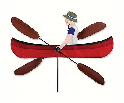 Premier Designs Outdoor Lover's Rowing Canoe Solar Max Fabric Spinner PD21831 (Red Solarmax Nylon)