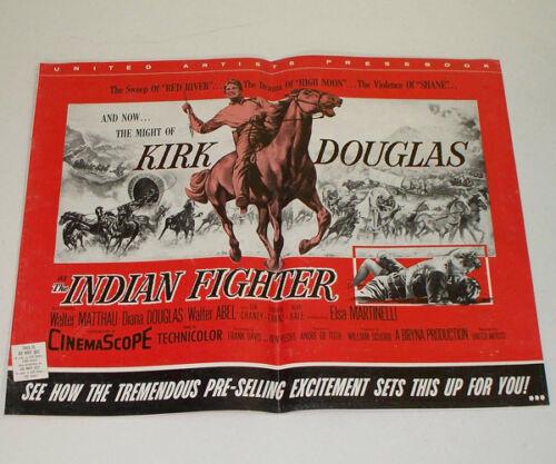 THE INDIAN FIGHTER 1955 Movie PRESSBOOK - Kirk Douglas