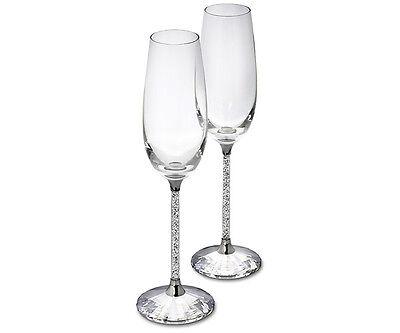 Swarovski Crystal CRYSTALLINE TOASTING FLUTES  255678 Set of 2
