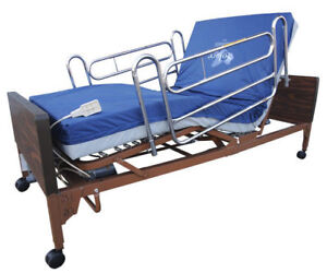 Fully Electric Hospital Bed - New & Used With Mattress & Rails.