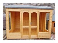 10ft x 8ft Summer House with an Apex Roof