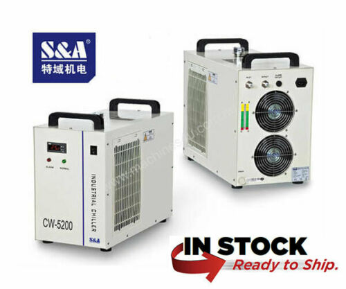 Genuine S&A CW-5200DH (Upgraded DG) Water Chiller 110v 50/60hz - USA in Stock