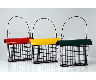 Songbird Essentials Deluxe Suet Cage with Red Color Metal Roof Bird Feeder 103