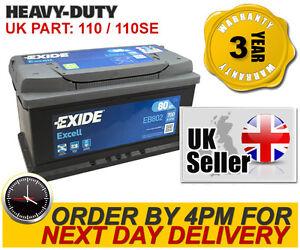 110se exide eb802 heavy duty car battery type 110 80ah 12v 700a ebay. Black Bedroom Furniture Sets. Home Design Ideas