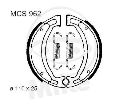 TRW Lucas Bremsbacken mit Federn MCS962 hinten Yamaha YN 50 Neos gebraucht kaufen  Rodenbach