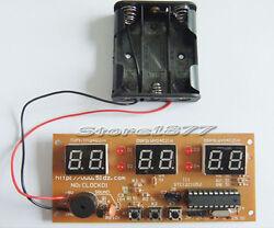 6 Digit Educational digital clock +Alarm clock setting DIY Electronic Kit szsp12
