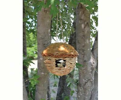 ROUND HANGING GRASS ROOSTING POCKET BIRDHOUSE, SE936