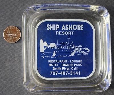 1960 70S Smith River California Ship Ashore Resort Hotel Trailer Park Ashtray