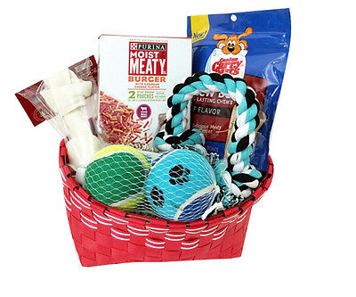 Joice Dog Gift Basket Set with Treats and toys