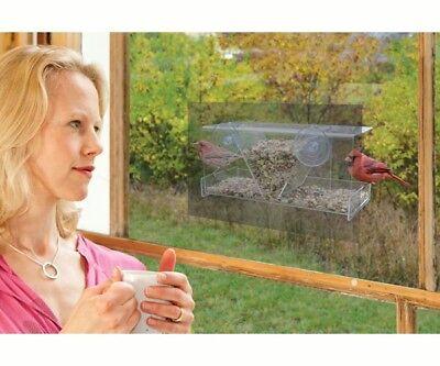 CLEAR VIEW WINDOW FEEDER - HOPPER  MIRRORED  FEEDER - MADE USA  - SE977